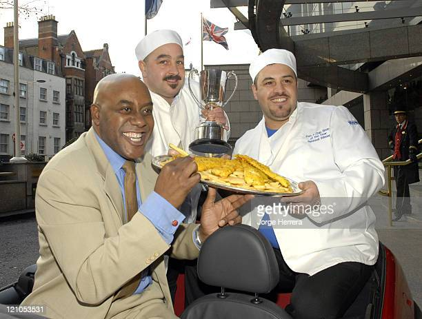 Ainsley Harriott and 1st place winners Pete Petrou and Mark Petrou