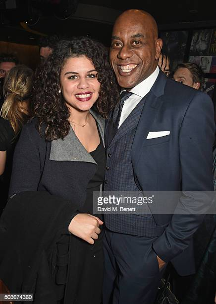 Ainsley Harriott and daughter Maddie Harriott attend the press night after party for Guys And Dolls at The Hippodrome Casino on January 6 2016 in...