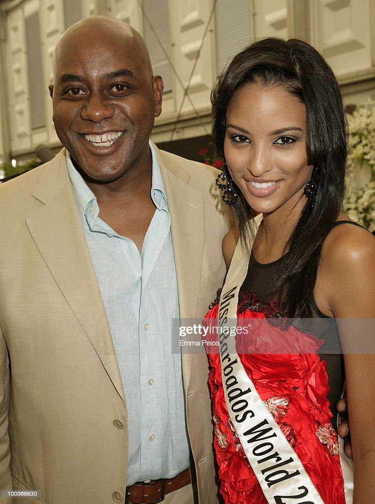 Ainsley Harriott and Leah Marville attend the Press & VIP preview at The Chelsea Flower Show at Royal Hospital Chelsea on May 24, 2010 in London, England.