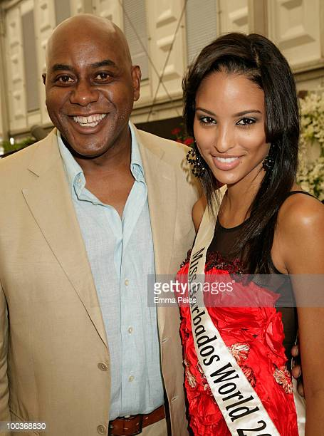Ainsley Harriott and Leah Marville attend the Press VIP preview at The Chelsea Flower Show at Royal Hospital Chelsea on May 24 2010 in London England