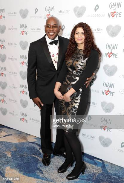 Ainsley Harriott and Maddie Harriott arriving at the Chain Of Hope Gala Ball held at Grosvenor House on November 17 2017 in London England