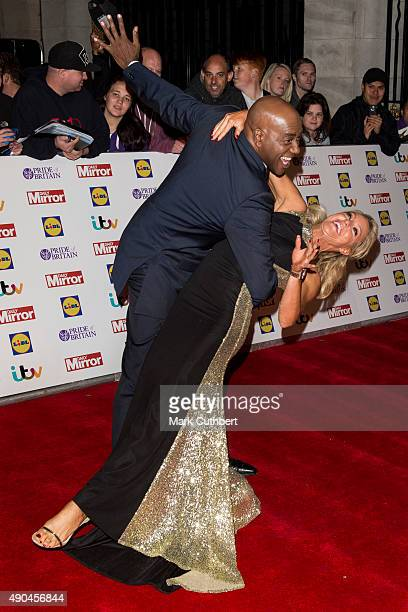 Ainsley Harriott and Natalie Lowe attend the Pride of Britain awards at The Grosvenor House Hotel on September 28 2015 in London England