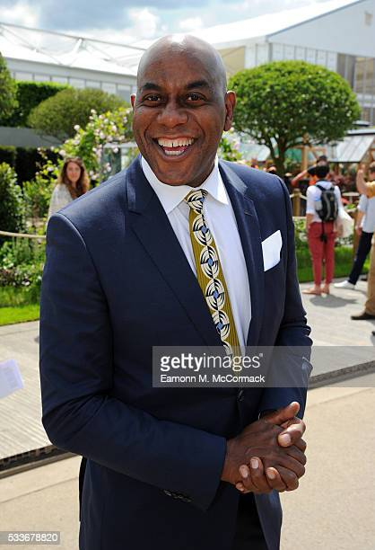 Ainsley Harriott attends Chelsea Flower Show press day at Royal Hospital Chelsea on May 23 2016 in London England The show which has run annually...