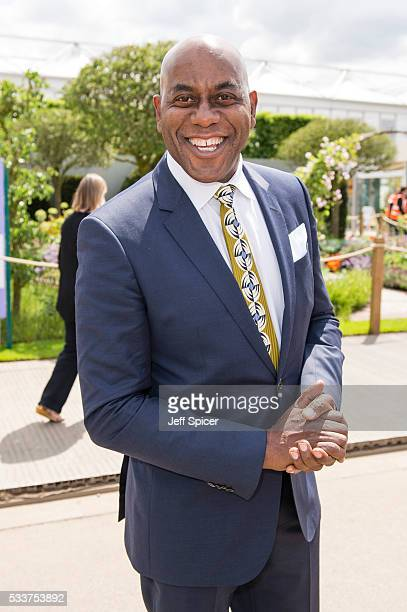 Ainsley Harriott attends Chelsea Flower Show press day at Royal Hospital Chelsea on May 23 2016 in London England