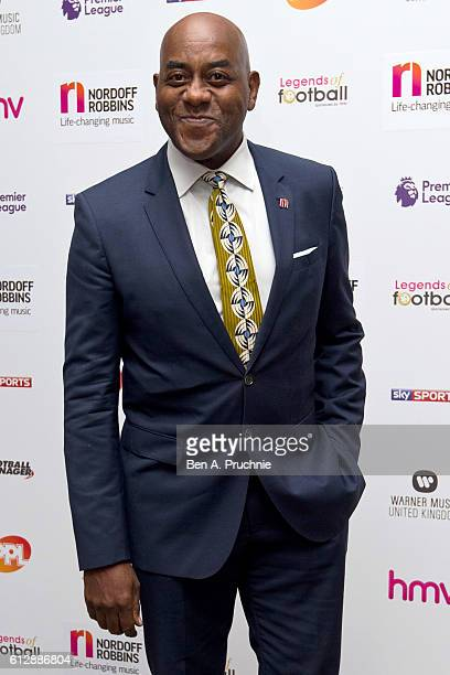 Ainsley Harriott attends the 21st Legends of football event to celebrate 25 seasons of the Premier League and raise money for music therapy charity...