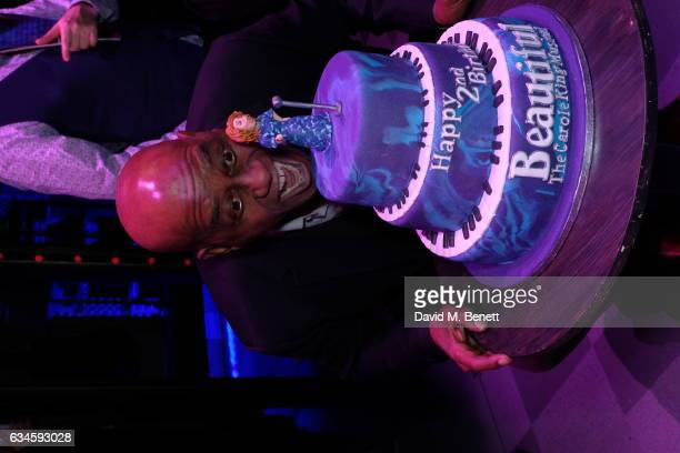 Ainsley Harriott attends the 2nd birthday gala performance of 'Beautiful The Carole King Musical' at The Aldwych Theatre on February 9 2017 in London...