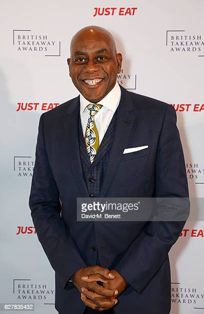 Ainsley Harriott attends the annual British Takeaway Awards in association with Just Eat at the Savoy Hotel in London The Annual awards are held to...