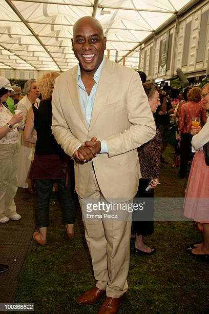 Ainsley Harriott attends the Press VIP preview at The Chelsea Flower Show at Royal Hospital Chelsea on May 24 2010 in London England