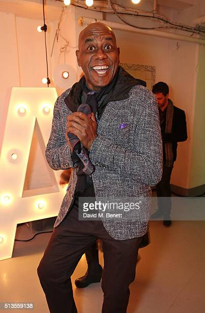 Ainsley Harriott attends the Sacla' UK 25th anniversary party at The Vinyl Factory on March 3 2016 in London England
