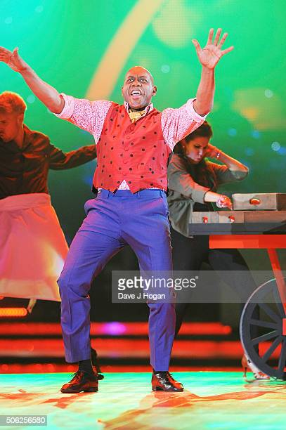 Ainsley Harriott performs during the Strictly Come Dancing Live Tour rehearsals Strictly Come Dancing Live Tour opens tomorrow 22nd January at the...