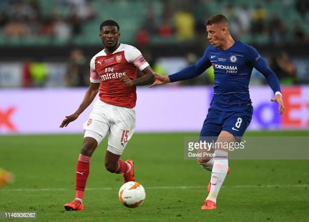 Ainsley MaitlandMaitland of Arsenal takes on Ross Barkley of Chelsea during the UEFA Europa League Final between Chelsea and Arsenal at Baku Olimpiya...