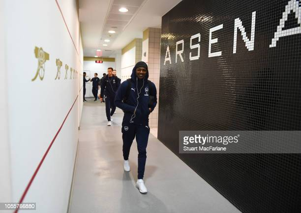 Ainsley MaitlandNiles in the Arsenal changing room before the Carabao Cup Fourth Round match between Arsenal and Blackpool at Emirates Stadium on...