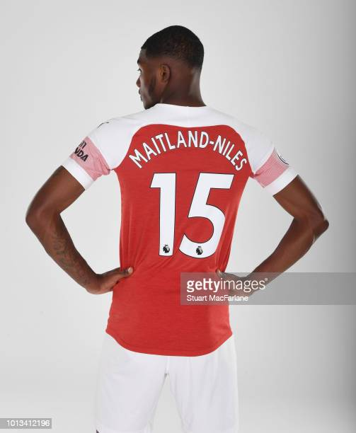 Ainsley MaitlandNiles of Arsenal at London Colney on August 8 2018 in St Albans England