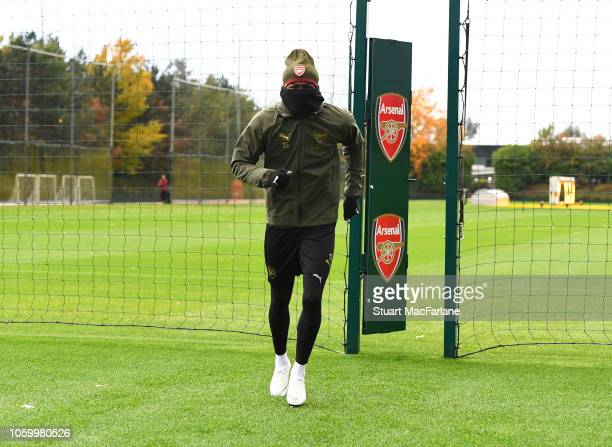 Ainsley MaitlandNiles of Arsenal before a training session at London Colney on November 10 2018 in St Albans United Kingdom