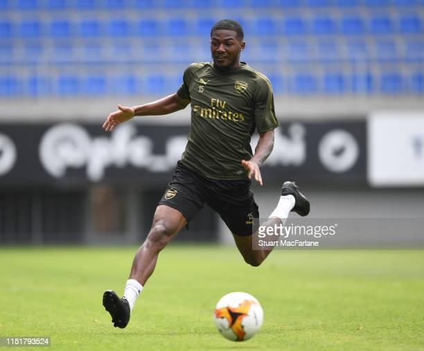 Ainsley MaitlandNiles of Arsenal during a training session at Bakcell Arena on May 26 2019 in Baku Azerbaijan