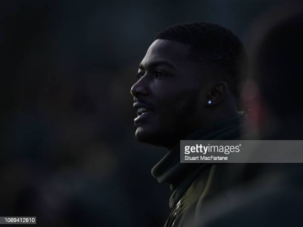 Ainsley MaitlandNiles of Arsenal during a training session at London Colney on December 7 2018 in St Albans England