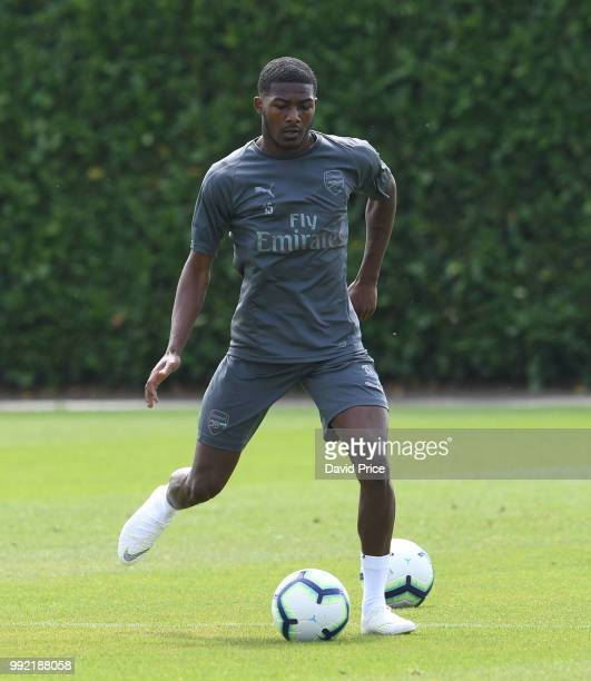 Ainsley MaitlandNiles of Arsenal during Arsenal Training Session at London Colney on July 5 2018 in St Albans England