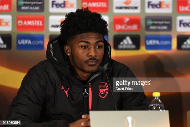 Ainsley MaitlandNiles of Arsenal during the Arsenal Press Conference at Jamtkraft Arena on February 14 2018 in Ostersund Sweden
