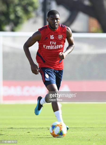 Ainsley MaitlandNiles of Arsenal during the Arsenal Training Session on July 12 2019 in Los Angeles California