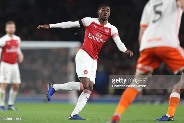 Ainsley MaitlandNiles of Arsenal during the Carabao Cup Fourth Round match between Arsenal and Blackpool at Emirates Stadium on October 31 2018 in...