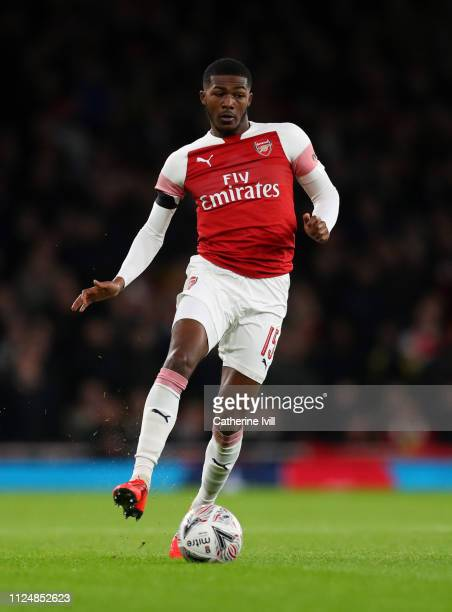 Ainsley MaitlandNiles of Arsenal during the FA Cup Fourth Round match between Arsenal and Manchester United at Emirates Stadium on January 25 2019 in...