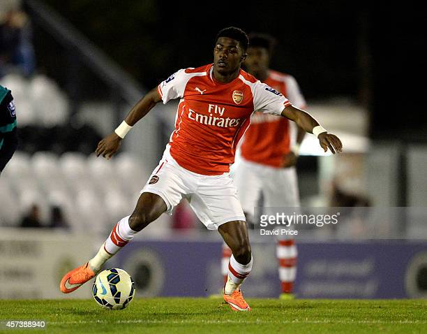 Ainsley Maitland-Niles of Arsenal during the match between Arsenal U21 and Blackburn U21 in the Barclays Premier U21 League at Meadow Park on October...