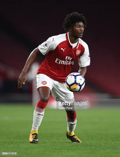 Ainsley MaitlandNiles of Arsenal during the match between Arsenal U23 and Manchester City U23 at Emirates Stadium on August 21 2017 in London England