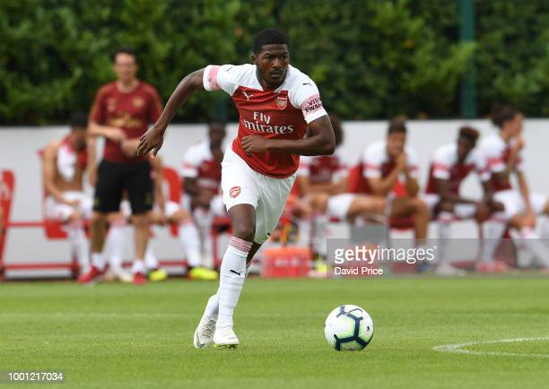 Ainsley MaitlandNiles of Arsenal during the match between Arsenal XI and Crawley Town XI at London Colney on July 18 2018 in St Albans England