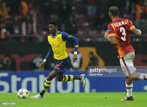Ainsley MaitlandNiles of Arsenal during the match between Galatasaray and Arsenal in the UEFA Champions League on December 9 2014 in Istanbul Turkey