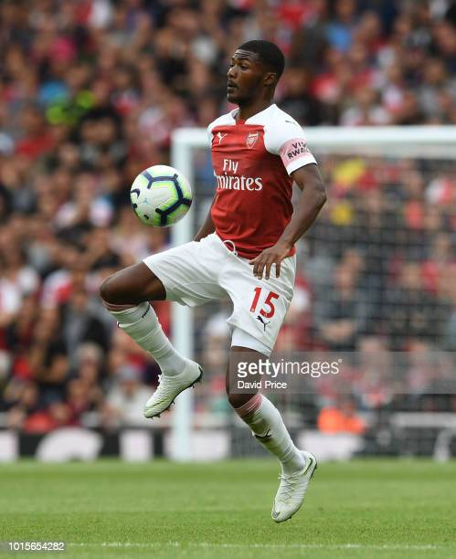 Ainsley MaitlandNiles of Arsenal during the match the Premier League match between Arsenal FC and Manchester City at Emirates Stadium on August 12...