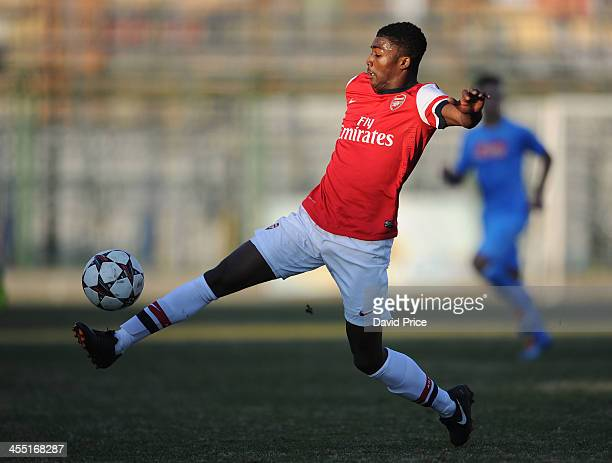 Ainsley MaitlandNiles of Arsenal during the Napoli U19 match against Arsenal U19 in the UEFA Youth League on December 11 2013 in Naples Italy