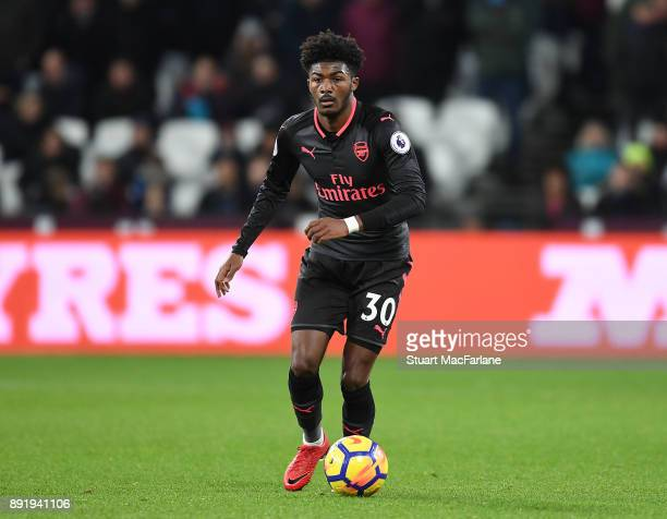 Ainsley MaitlandNiles of Arsenal during the Premier League match between West Ham United and Arsenal at London Stadium on December 13 2017 in London...