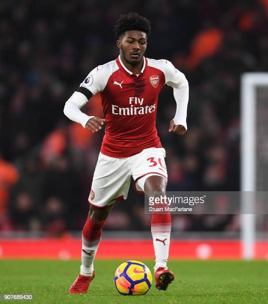 Ainsley MaitlandNiles of Arsenal during the Premier League match between Arsenal and Crystal Palace at Emirates Stadium on January 20 2018 in London...