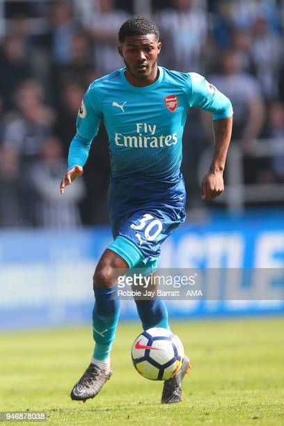 Ainsley MaitlandNiles of Arsenal during the Premier League match between Newcastle United and Arsenal at St James Park on April 15 2018 in Newcastle...