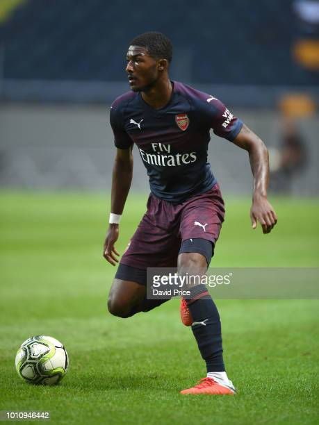 Ainsley MaitlandNiles of Arsenal during the Preseason friendly between Arsenal and SS Lazzio on August 4 2018 in Stockholm Sweden