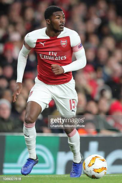 Ainsley MaitlandNiles of Arsenal during the UEFA Europa League Group E match between Arsenal and Sporting CP at Emirates Stadium on November 8 2018...
