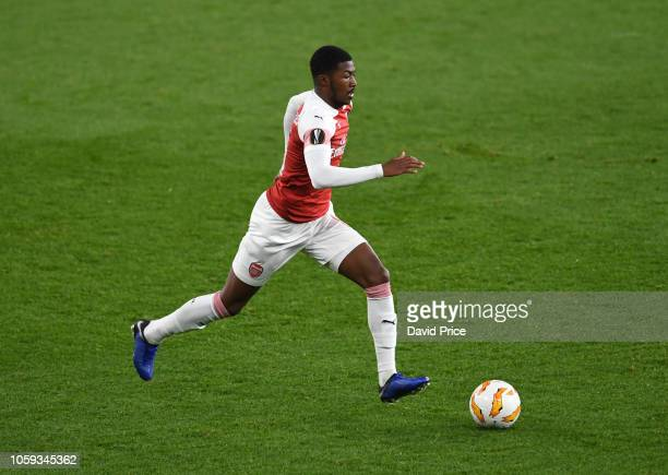Ainsley Maitland-Niles of Arsenal during the UEFA Europa League Group E match between Arsenal and Sporting CP at Emirates Stadium on November 8, 2018...