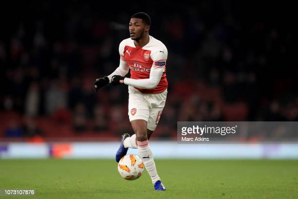 Ainsley MaitlandNiles of Arsenal during the UEFA Europa League Group E match between Arsenal and Qarabag FK at Emirates Stadium on December 13 2018...