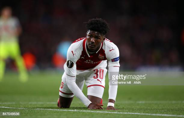 Ainsley MaitlandNiles of Arsenal during the UEFA Europa League group H match between Arsenal FC and 1 FC Koeln at Emirates Stadium on September 14...