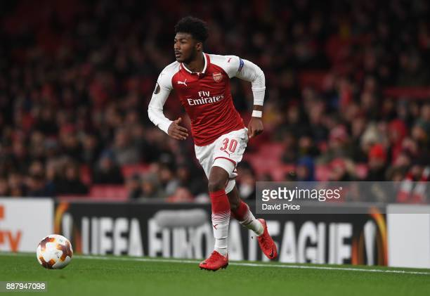 Ainsley MaitlandNiles of Arsenal during the UEFA Europa League group H match between Arsenal FC and BATE Borisov at Emirates Stadium on December 7...