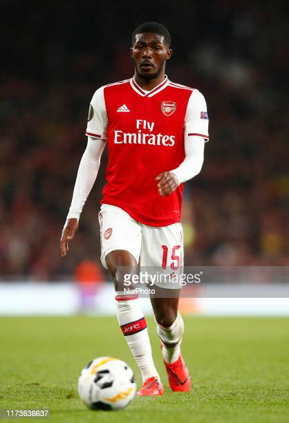 Ainsley MaitlandNiles of Arsenal during UEFA Europa League Group F between Arsenal and Royal Standard de Liege at Emirates stadium London England on...