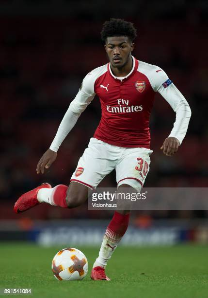 Ainsley MaitlandNiles of Arsenal in action during the UEFA Europa League group H match between Arsenal FC and BATE Borisov at Emirates Stadium on...