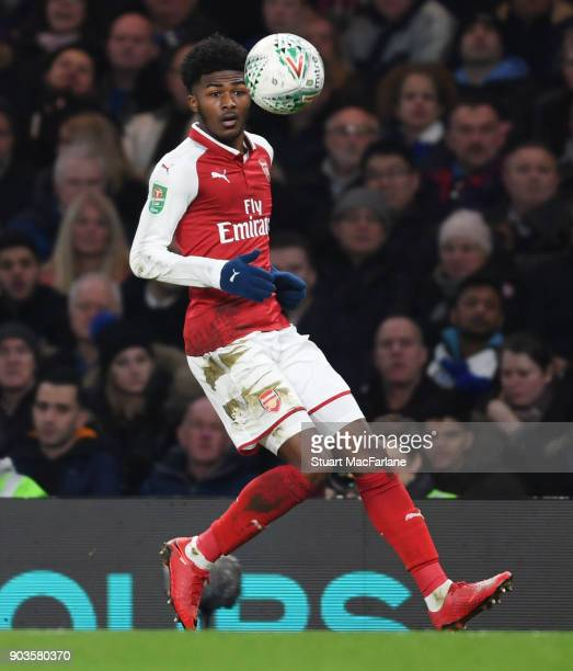 Ainsley MaitlandNiles of Arsenal of Chelsea during the Carabao Cup SemiFinal First Leg match between Chelsea and Arsenal at Stamford Bridge on...