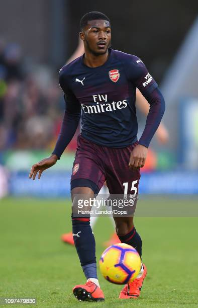 Ainsley MaitlandNiles of Arsenal runs with the ball during the Premier League match between Huddersfield Town and Arsenal FC at John Smith's Stadium...