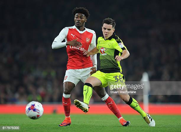 Ainsley MaitlandNiles of Arsenal takes on Liam Kelly of Reading during the EFL Cup Fourth Round match between Arsenal and Reading at Emirates Stadium...