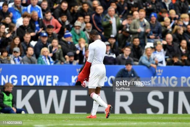 Ainsley MaitlandNiles of Arsenal walks off the pitch after being shown a red card by Referee Michael Oliver during the Premier League match between...