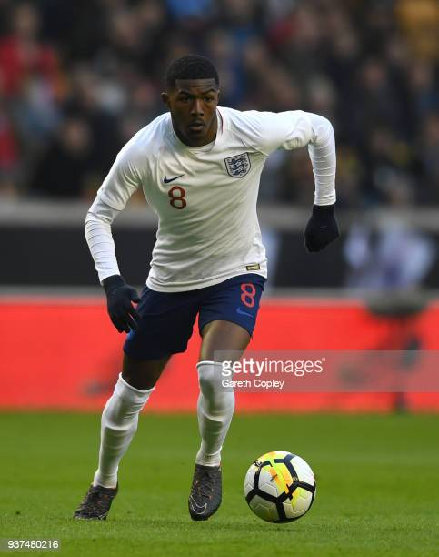 Ainsley MaitlandNiles of England during the International Friendly between England U21 and Romania U21 at Molineux on March 24 2018 in Wolverhampton...