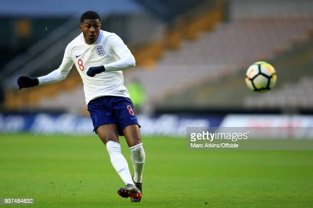Ainsley MaitlandNiles of England during the U21 International Friendly match between England U21 and Romania U21 at Molineux on March 24 2018 in...