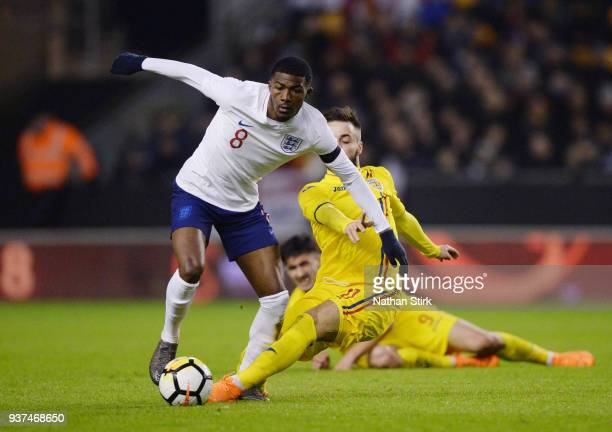 Ainsley MaitlandNiles of England U21 in action during the international friendly match between England U21 and Romania U21 at Molineux on March 24...