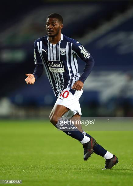 Ainsley Maitland-Niles of West Bromwich Albion during the Premier League match between West Bromwich Albion and Everton at The Hawthorns on March 4,...